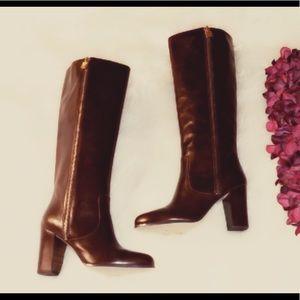 🆕MICHAEL KORS Tall Wine Leather Heel Boots